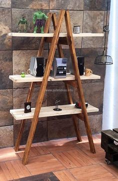 Shelf is a great way of adorning a room, but the one we are going to show here is different from the usual ones. Have a look at the decor shelving ladder and you will love to copy this idea, but this idea is great for the room which is spacious.