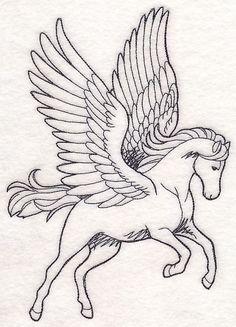 Pegasus Etching