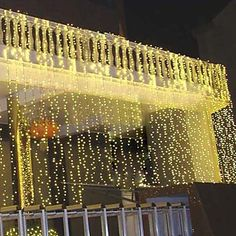 Led Curtain String Lights Decorate - X X W 78 with Addition Plug Wire - - Yellow Color Light- Flashing Neon Lighting Lantern -Water Proof -Indoor Outdoor - For Christmas Wedding Festival Holiday Events Party Birthday