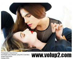 Because gender isn't always BLACK AND WHITE. Issue will be out soon, can't wait!!! Photographer Velvet d'Amour  Model Joshua Ribadeo and Chloe Martini  Clothes ZARA  www.volup2.com