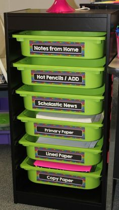 IKEA system - perfect for the classroom - Primary Brights Labels