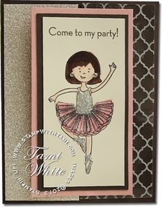 Stampin Up Stylin' Girl stamp set ballerina