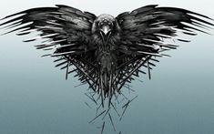 The three eyed raven - black, raven, The three eyed raven, dark, crow, bird