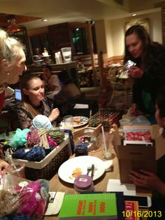 A fun evening of paper stars, prizes, glitter, ribbon, stickers, stationery, jewelry, yarn, give-aways, tips, stories, laughs, and books!!! Fun times, ladies! #Papeeyay #AngelIdeas  #FeltFlanerie #JoAnnaSeiter #PinkPonies  #Etsy #Team #Girlsmakingstrides