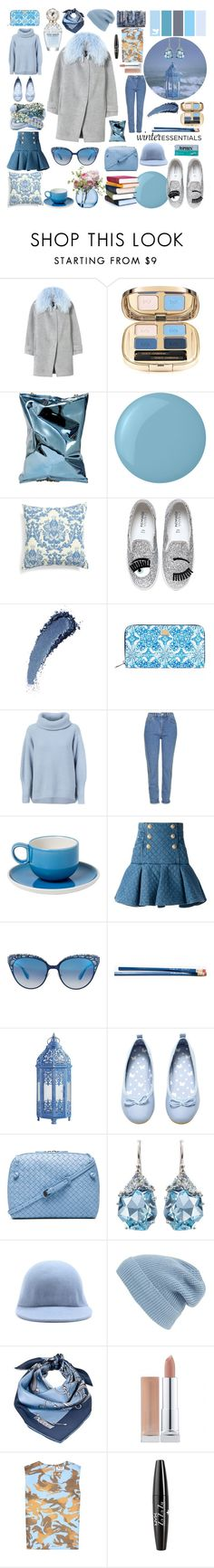 """the little I need"" by hbee-1234 ❤ liked on Polyvore featuring Rebecca Taylor, Dolce&Gabbana, Anya Hindmarch, Essie, Amity Home, Chiara Ferragni, Marc Jacobs, Maison Ullens, Topshop and MANGO"