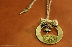 Collier bijou style vintage / Necklace jewel par lesbetisesdemailys, $50,00