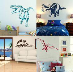 Dinosaur Wall Stickers! Boys Dino Bedroom Art, Lads Room Decal Transfer Decor uk | Home, Furniture & DIY, Home Decor, Wall Decals & Stickers | eBay!