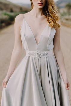 Silver wedding dress Elizabeth Dye 2016 wedding dress collection @weddingchicks