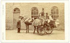 """The Irish Jaunting Car"" - 1860s Carte de Visite Photograph. Belfast, Ireland."
