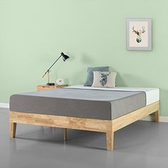 Zinus Moiz 14 Inch Deluxe Solid Wood Platform Bed Frame with Wood Slat Support / No Box Spring Needed, Queen Solid Wood Platform Bed, Platform Bed With Storage, Platform Bed Frame, Bedroom Furniture Stores, Furniture Deals, Bed Furniture, Online Furniture, Kitchen Furniture, Furniture Outlet
