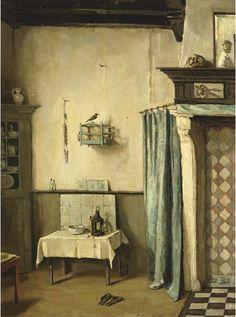 Interior, Lucie van Dam van Isselt. Dutch (1871 - 1949)