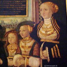 Pfalzgraf Johann's Wife Beatrix von Baden with Daughters, by Peter Gärtner, 1532