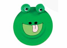 Animal Face Plates - Frog - Craft Activity