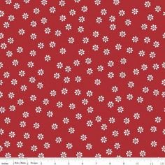 Designer: Lori Holt Collection: Sew Cherry 2 Manufacturer: Riley Blake Fabric: Daisy Red Material: 100% Cotton Fabric Sold by 0.5 yard lengths and by Fat Quarters For any size order within the contine