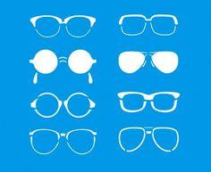 Stencil Óculos 17 x 21cm - STM 184 Litoarte - Stencil 17 x 21cm - Stencil ou molde vazado - Empório Janial