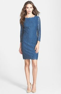 Lace Sheath Dress | Lace sheath dress, Adrianna papell and Nordstrom