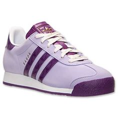 Women's adidas Samoa Casual Shoes  FinishLine.com   Glow Purple/Tribe Purple/Metallic Gold  I would need to get these royal purple/lavender sneakers.