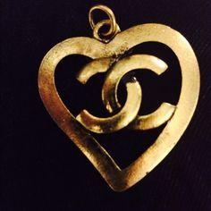 CHANEL Jewelry - Vintage Chanel Logo CC Authentic Heart Pendant