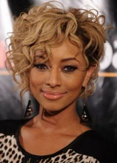 Short Curly Hairstyles for Heart Shaped Faces 1