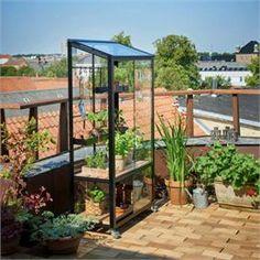 Juliana drivhus - City Greenhouse Antracitgrå/sort - Med 3 mm hærdet glas og skydelåger