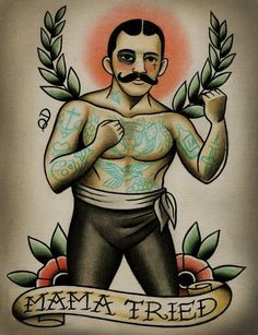 Another boxer to the collection! Parlor Tattoo Prints on Etsy  Quyen Dinh