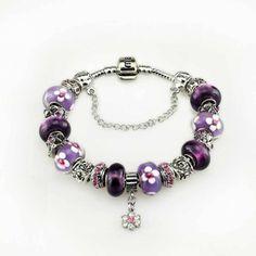 Purple murano glass beads bracelet 2014 fashiong jewelry women bracelets & bangles clover purple glass bracelet $19.90