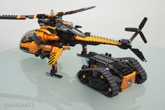Load Multipurpose Helicopter V1.5 + Arctic track carrier 1.0 | by MiniGray! Lego Mechs, Lego Minifigs, Lego Technic, Lego Spaceship, Lego Robot, Legos, Lego Helicopter, Lego Structures, Lego Machines