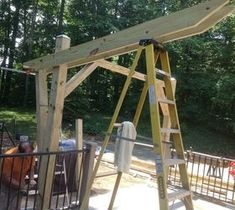 Cantilevered Pergola Diy Designed And Built Outdoor