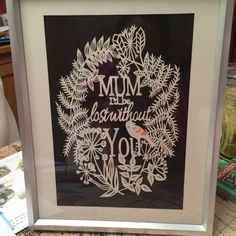 Paper cut done for my mum
