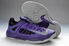 Nike Air Lunar Hyperdunk X Low 2012 - Purple and Silver Black for Sale
