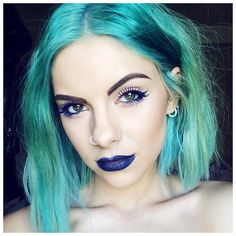 Maybe your hair is the perfect shade of pastel blue. Dye My Hair, New Hair, Beauty Makeup, Hair Makeup, Hair Beauty, Goth Makeup, Green Hair, Blue Hair, Blue Green