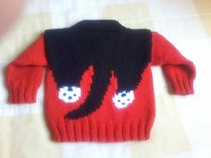 Baby Boy Sweater, Baby Cardigan, Baby Sweaters, Vintage Sweaters, Baby Boy Knitting Patterns, Knitting For Kids, Crochet Shoes Pattern, Pull Bebe, Knitted Cat