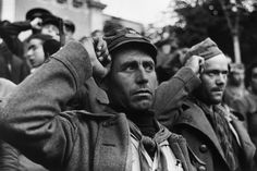 "David ""Chim"" Seymour Soldiers from the International Brigades, Volunteers who Fought Against Franco and the Rise of Fascism During the Spanish Civil War at the Ceremony Marking their Leaving Spain,."
