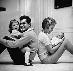 Janet Leigh and family
