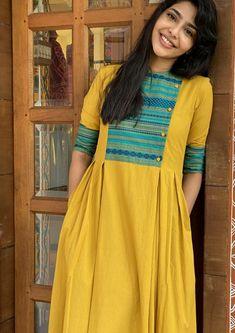 Box Pleats, Neck Pattern, Indian Designer Wear, Salwar Suits, Indian Wear, Saree, Yellow, Womens Fashion, How To Wear