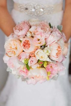 Soft Pink Wedding Bouquets To Fall In Love With ❤ See more: http://www.weddingforward.com/pink-wedding-bouquets/ #weddings