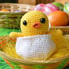Háčkované kuriatko vo vajíčku - návod | Klbkovlny, vlna na pletenie