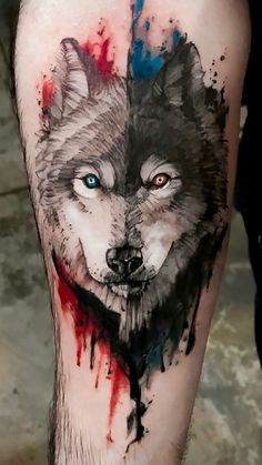 Wolf Brooch Badge Acrylic Shaped Pin Multi-Coloured Boho Tattoo Mandala Howling