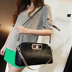 Women's Elegant Fake Ostrich Clutch Bag(34*11*18CM)