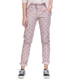 This Pink Glitter Star Boyfriend Jeans is perfect! #zulilyfinds