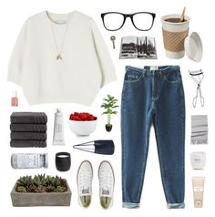 """""""camp"""" by ruthaudreyk ❤ liked on Polyvore featuring Converse, Laura Ashley, The Cellar, Carven, Shop Succulents, Christy, Byredo, Le Labo, Essie and BBrowBar"""