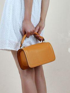 Orange bag handbag, mobile phone bags wallet zero wallet cow leather fashion…
