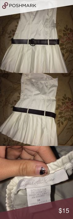 Charlotte Russe Dress✨ White Charlotte Russe dress, comes with belt! Only worn once, basically brand new. Selling for 15$ Charlotte Russe Dresses Mini
