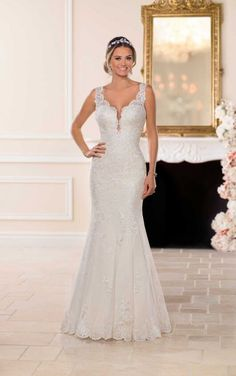 Stella York Wedding Dresses - Search our photo gallery for pictures of wedding dresses by Stella York. Find the perfect dress with recent Stella York photos. Lace Wedding Dress, Bridal Wedding Dresses, Dream Wedding Dresses, Stella York Wedding Gowns, Stella York Bridal, Princess Bridal, Princess Wedding Dresses, Fit And Flare Rock, Wedding Dress Pictures