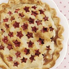 Strawberry-Rhubarb Pie #Easter #desserts