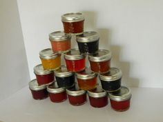 175 Jam or Jelly Wedding Favors - 13 Flavor Choices Custom Made-to-Order with your colors