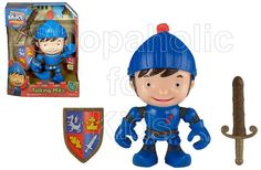 Now your children can join their favorite knight-in-training on exciting missions with this Talking Mike the Knight figure! Complete with his signature sword and shield, plus over 20 phrases and sounds, Talking Mike is the perfect adventure-loving companion! The figure is approximately 8 inches tall, has moveable arms, and can pivot at the waist for even more action! - To order: http://www.shopaholic.com.ph/toys.html#!/Fisher-Price-Mike-the-Knight-Talking-Mike/p/32364544/category=6708182