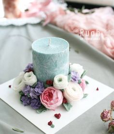 Soy Flowers Candle by Ruah