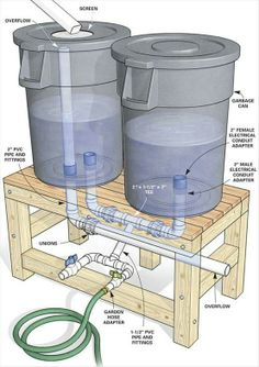 DIY Rain Containers - Click image to find more hot Pinterest pins