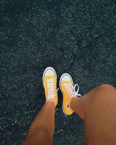 Yellow high tops